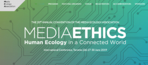 Media Ethics. Human Ecology in a Connected World @ St Michael's College, University of Toronto